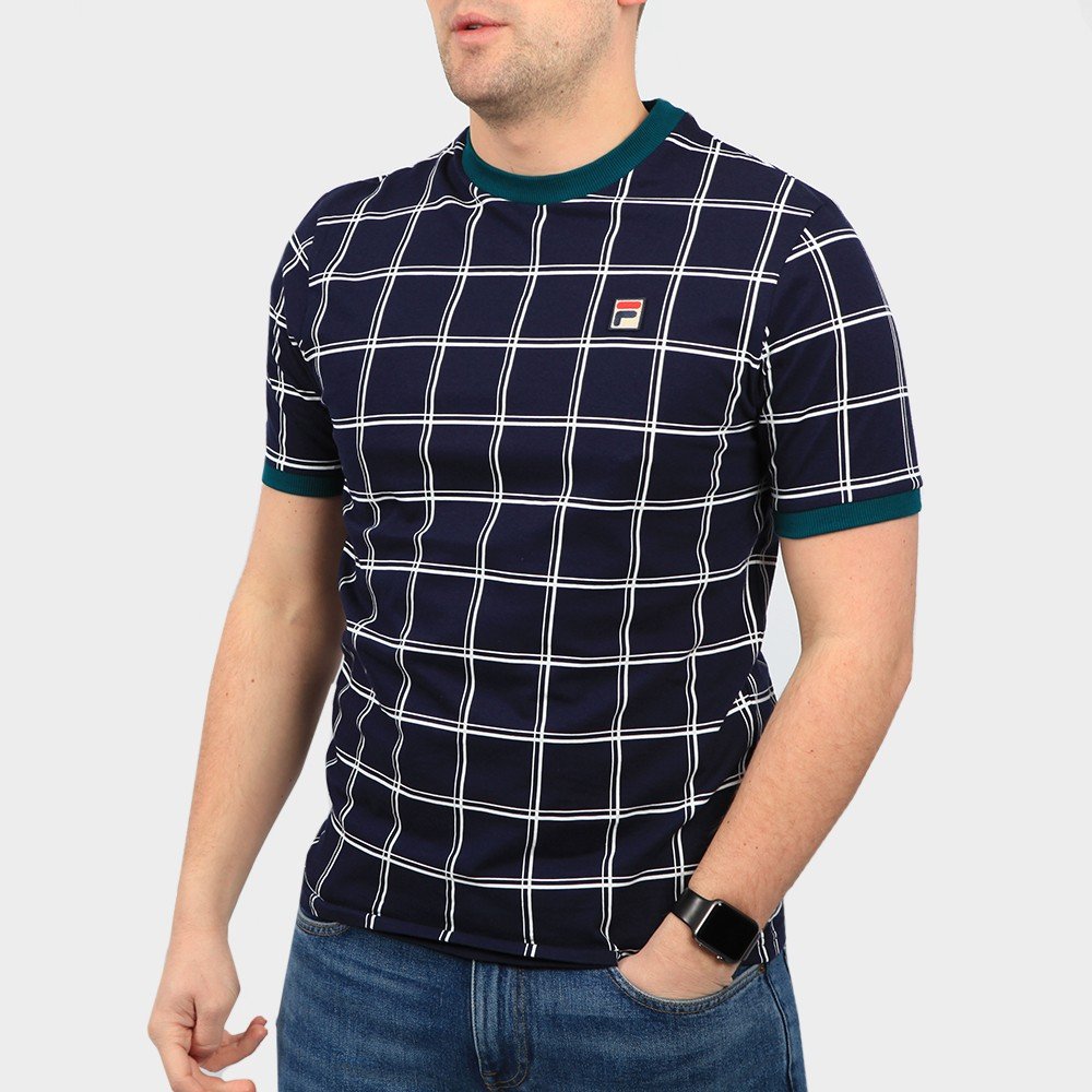 Slate Window Pane Print T Shirt main image
