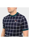 Fila Mens Blue Slate Window Pane Print T Shirt