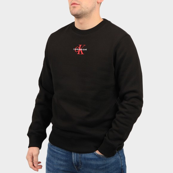 Calvin Klein Jeans Mens Black Iconic Essential Sweatshirt