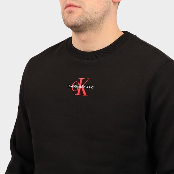 Calvin Klein Jeans Mens Black Iconic Essential Sweatshirt main image