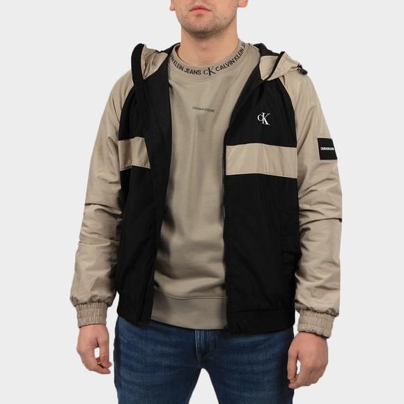 Calvin Klein Jeans Mens Black Blocked Zip Through Jacket