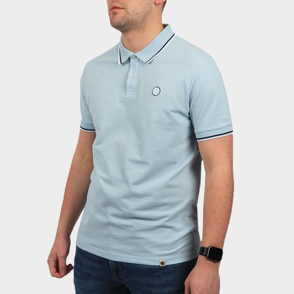 Pretty Green Mens Blue Tipped Pique Polo Shirt