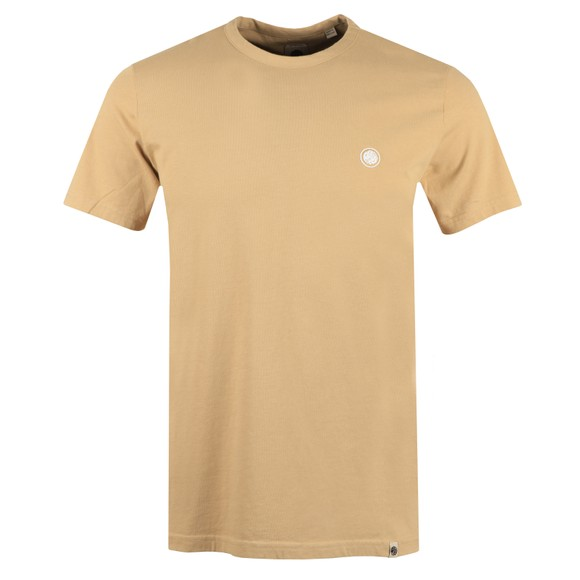 Pretty Green Mens Beige Basic T-Shirt