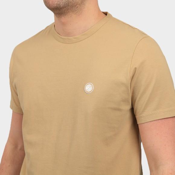 Pretty Green Mens Beige Basic T-Shirt main image