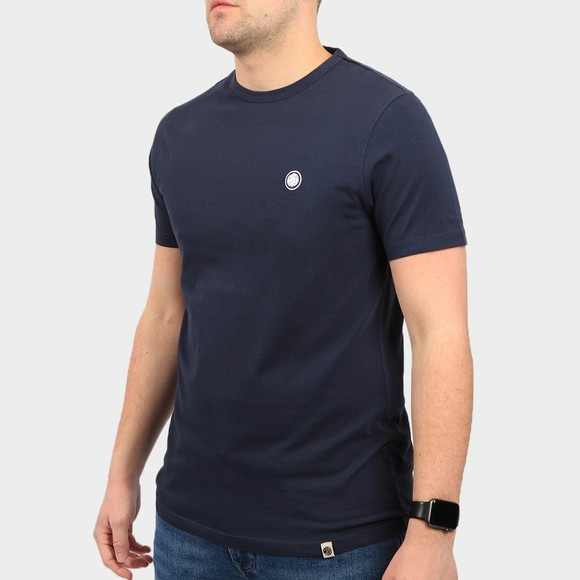 Pretty Green Mens Blue Basic T-Shirt