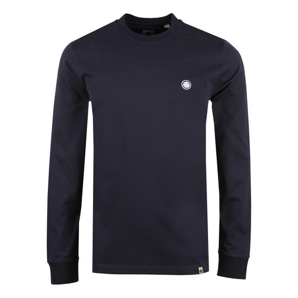 Pretty Green Mens Blue Heavyweight Jersey LS T-Shirt