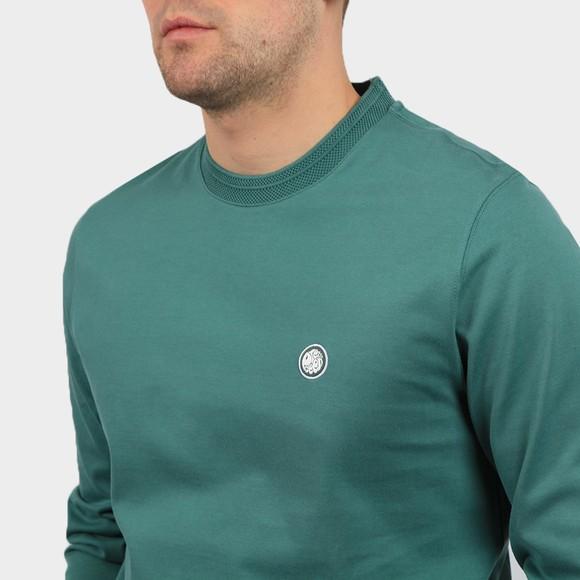 Pretty Green Mens Blue Heavyweight Jersey LS T-Shirt main image