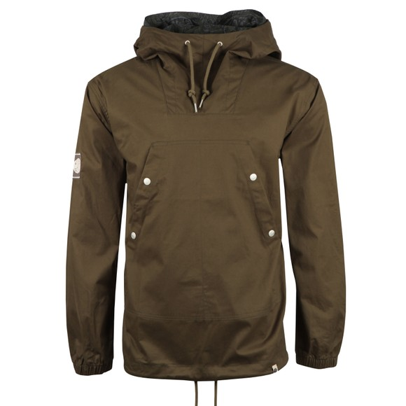Pretty Green Mens Green Cotton Overhead Jacket