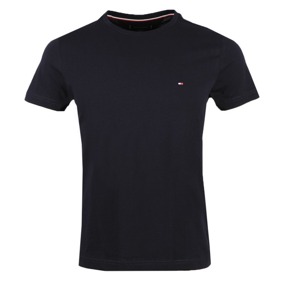 Tommy Hilfiger Mens Blue  Back Logo T Shirt