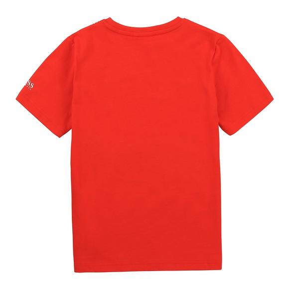 BOSS Boys Red J25G98 Large Logo T Shirt