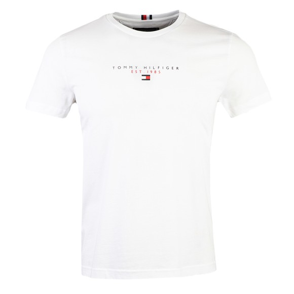 Tommy Hilfiger Mens White Essential Tommy T Shirt