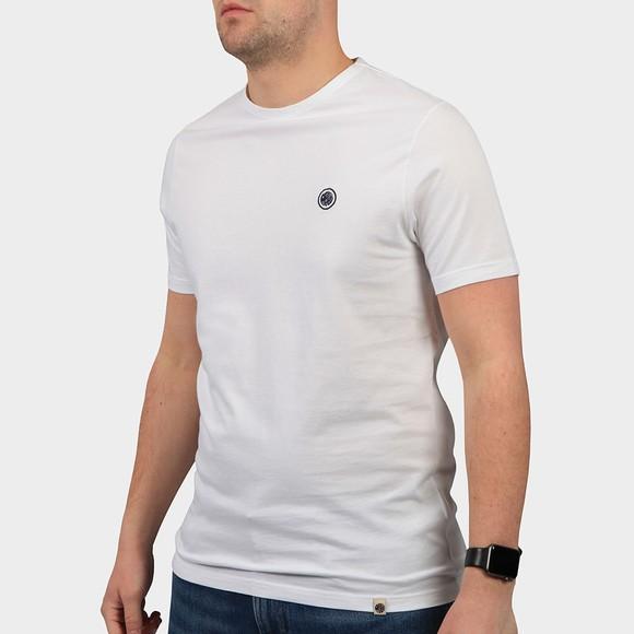 Pretty Green Mens White Basic T-Shirt
