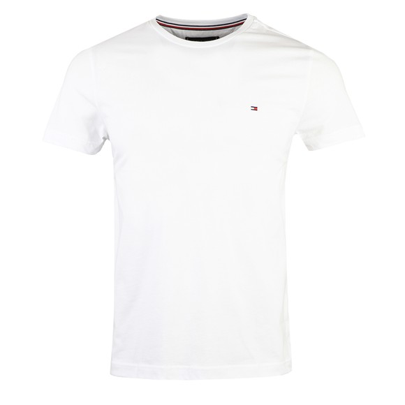Tommy Hilfiger Mens White  Back Logo T Shirt