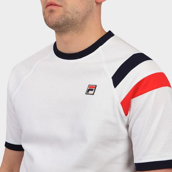 Fila Mens White Roger Raglan Sleeve Double Stripe T Shirt main image