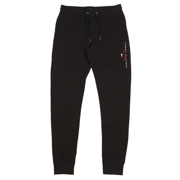 Tommy Hilfiger Mens Black Essential Tommy Sweatpant