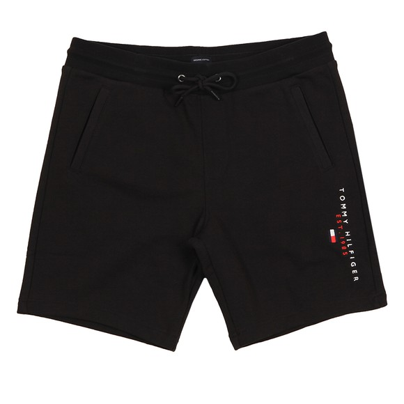 Tommy Hilfiger Mens Black Essential Tommy Sweat Short