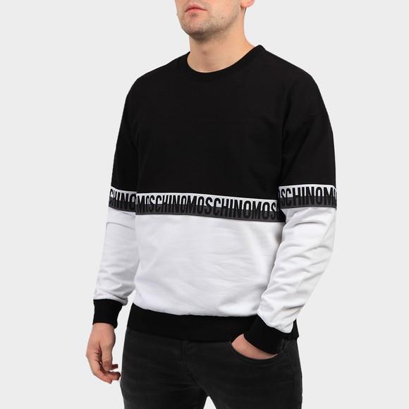 Moschino Mens Black Tape 2 Tone Sweatshirt