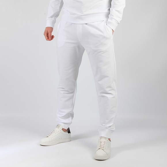 Emporio Armani Mens White The Eagle Brand Basic Jogger