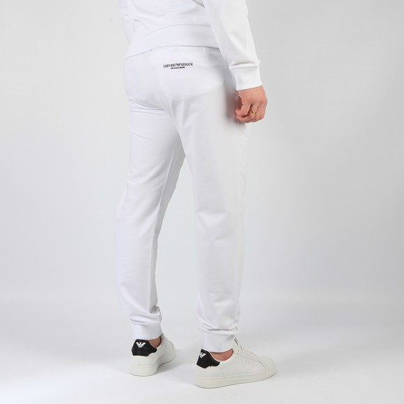 Emporio Armani Mens White The Eagle Brand Basic Jogger main image