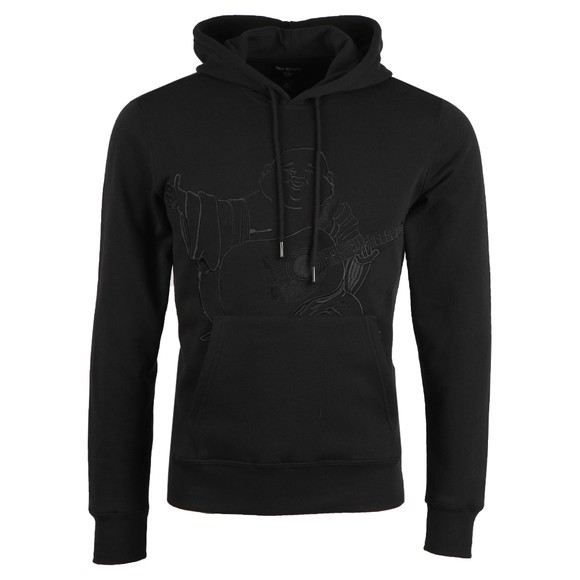 True Religion Mens Black Buddha Pullover Hoody
