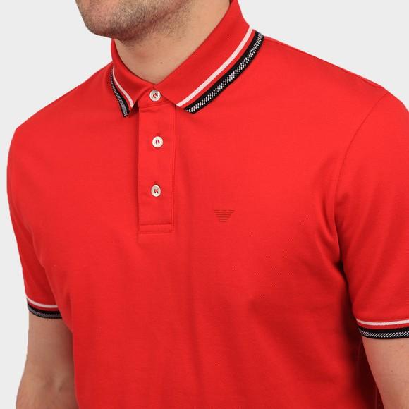Emporio Armani Mens Red Tipped Polo Shirt main image