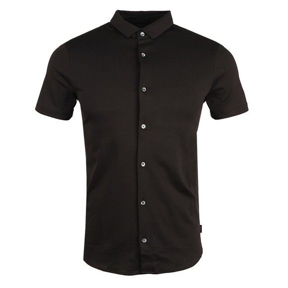 Emporio Armani Mens Black Short Sleeve Jersey Shirt