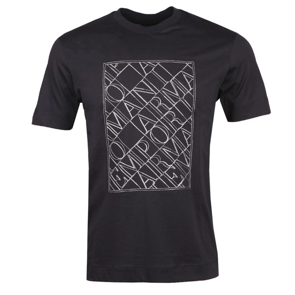 Emporio Armani Mens Blue Stitch Logo T Shirt main image