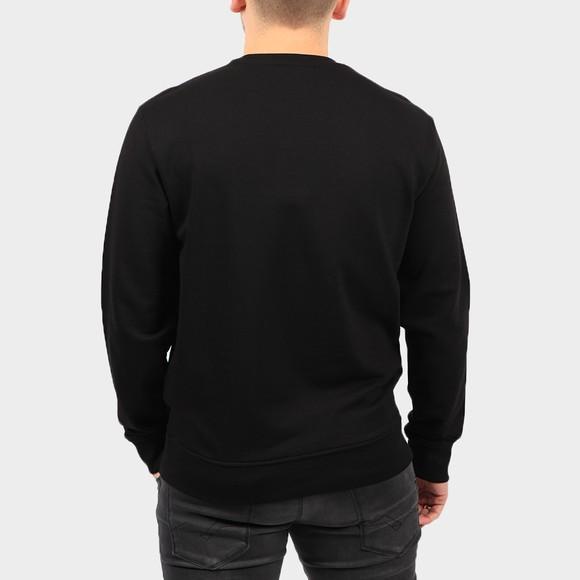 Emporio Armani Mens Black Signature Crew Neck Sweatshirt main image