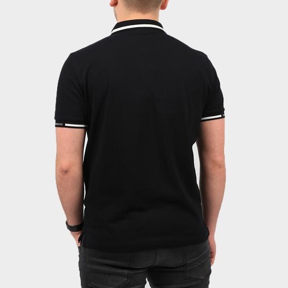Emporio Armani Mens Blue Tipped Sleeve Logo Polo Shirt main image