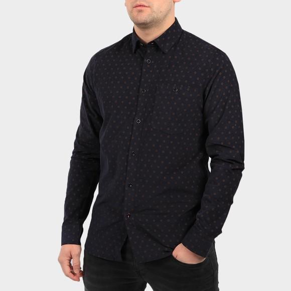 Ted Baker Mens Blue Spoonie Printed Cord Shirt
