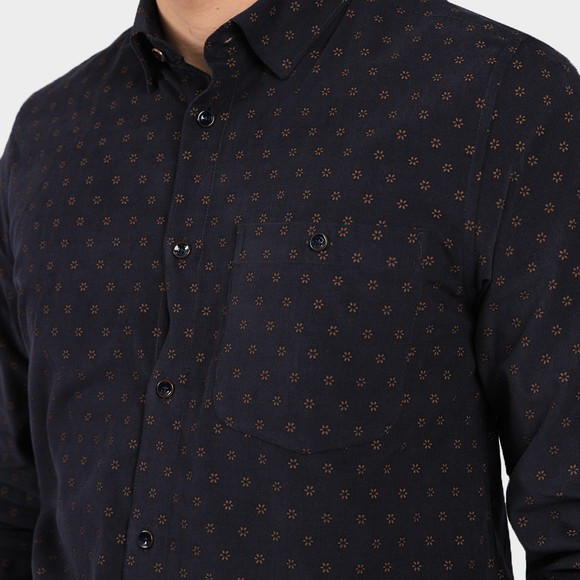 Ted Baker Mens Blue Spoonie Printed Cord Shirt main image
