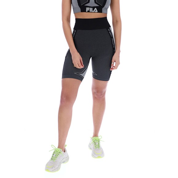 Fila Womens Grey Marieta Seamless Legging Short