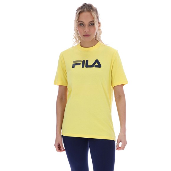Fila Womens Yellow Eagle Graphic T-Shirt