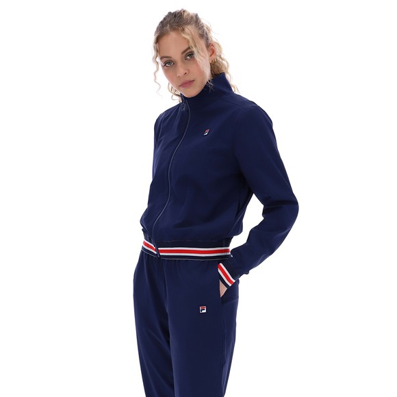 Fila Womens Blue Cadenza Funnel Neck Track Jacket