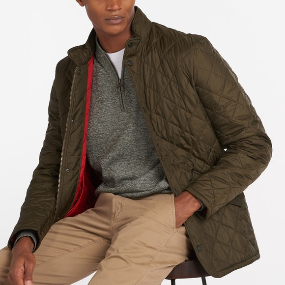 Barbour Lifestyle Mens Green Flyweight Chelsea Quilt Jacket main image