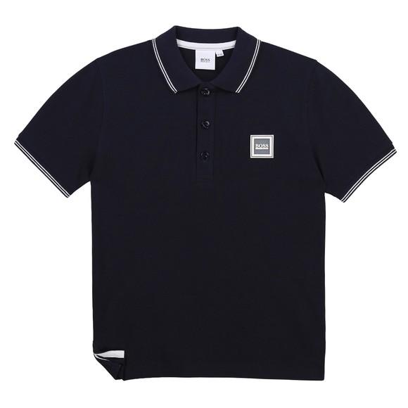 BOSS Boys Blue J25L14 Square Badge Polo Shirt main image