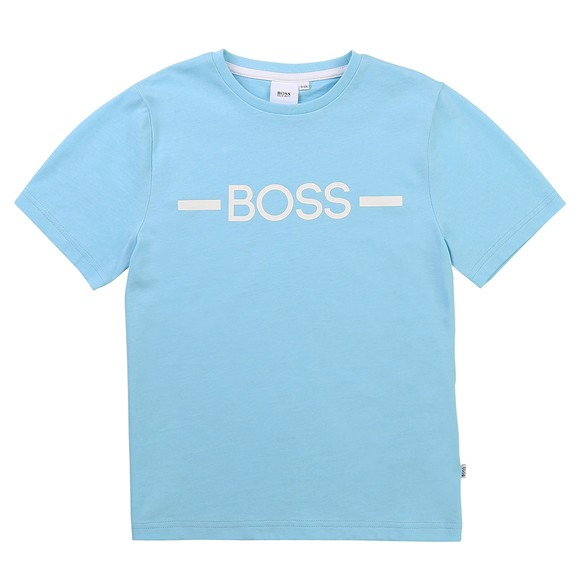 BOSS Boys Turquoise J25G97 Centre Logo T Shirt main image