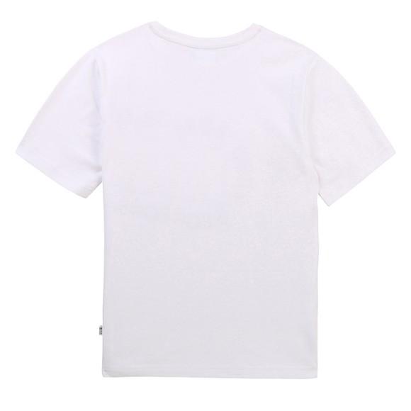 BOSS Boys White J25G93 Gold Logo T Shirt main image