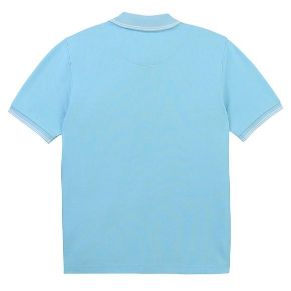 BOSS Boys Turquoise J25L14 Square Badge Polo Shirt main image