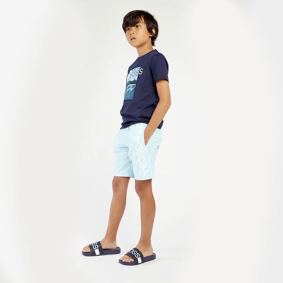 BOSS Boys Turquoise J24682 Swim Shorts main image