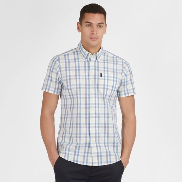 Barbour Lifestyle Mens Blue S/S Tattersall 14 Shirt