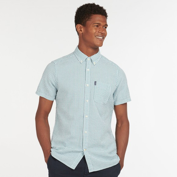 Barbour Lifestyle Mens Blue Seer 8 Short Sleeve Shirt