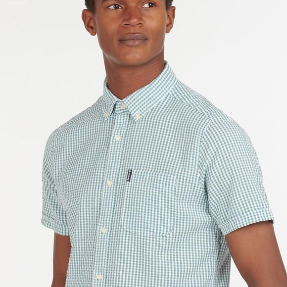 Barbour Lifestyle Mens Blue Seer 8 Short Sleeve Shirt main image