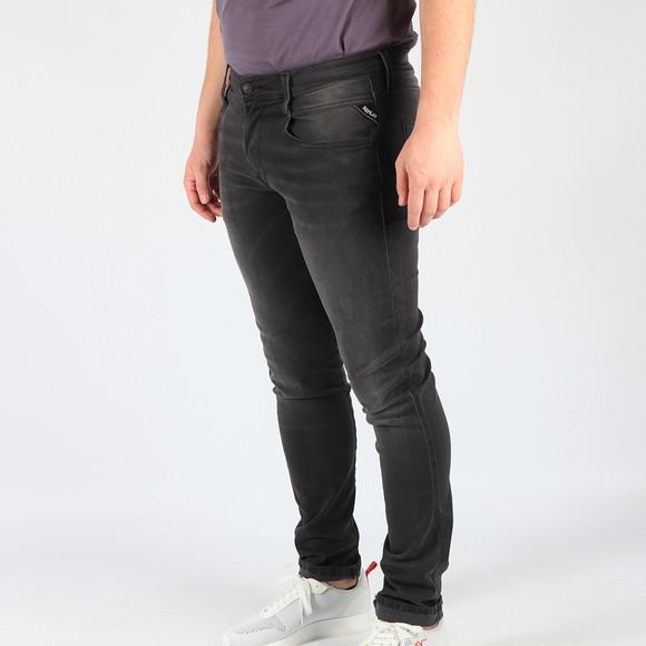 Replay Mens Re Used Grey Hyperflex Anbass Stretch Jean