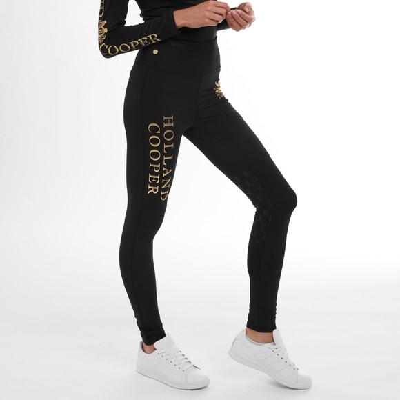 Holland Cooper Womens Black Sport Leggings main image