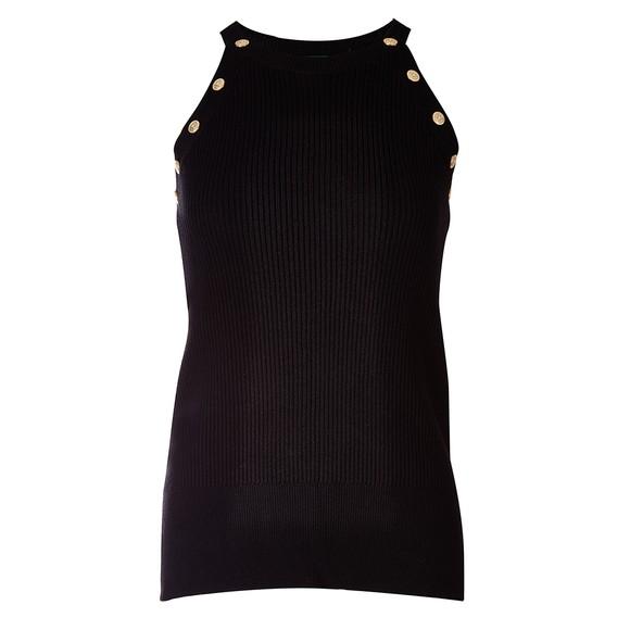 Holland Cooper Womens Black Ribbed Halter Vest