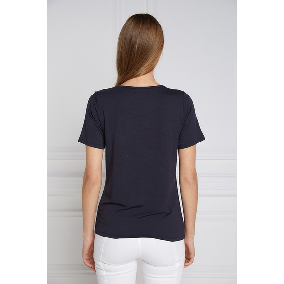 Holland Cooper Womens Blue GBE Flock Logo T Shirt main image