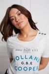 Holland Cooper Womens Grey GBE Flock Logo T Shirt