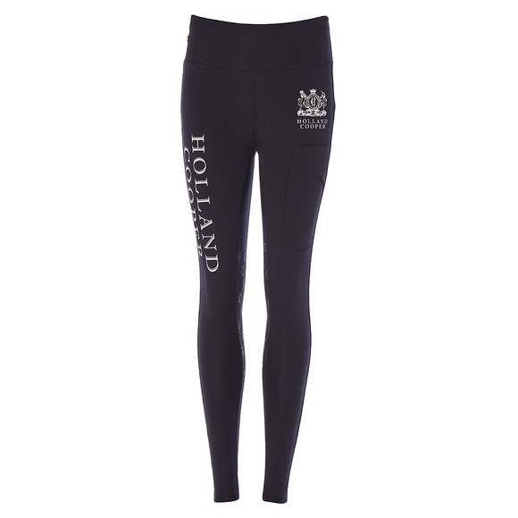 Holland Cooper Womens Blue Sport Leggings