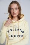 Holland Cooper Womens Yellow GBE Flock Logo Hoody